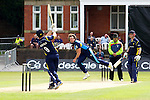 Pix: Shaun Flannery/shaunflanneryphotography.com...COPYRIGHT PICTURE>>SHAUN FLANNERY>01302-570814>>07778315553>>..19th May 2013..Derbyshire Unicorns v Yorkshire Vikings..Yorkshire Bank 40 National League Cricket Match..Yorkshire's Ryan Sidebottom bowls to Unicorns Lancefield.