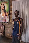 """CAR, Bangui: Debonheur is 15 years old and a former child soldier. Two years ago, the seleka killed his cousin in front of him and his family. He escaped and decided to join the Anti-Balaka with will to take revenge but he never fight he said. """"I was doing the laundry, the cooking, buying cigarets and so on but they never let me really fight. When there were fights, I had to burry the bodies"""". Debonheur is now living in Bangui and back to school thanks to a host family.  20th April 2016<br /> RCA, Bangui: Debonheur a 15 ans et est un ancien enfant soldat. Il y a deux ans, la seleka a tué son cousin en face de lui ainsi que sa famille. Il s'est enfuit et a décidé de rejoindre els anti-balaka dans le but de prendre sa revenge mais il n'a finalement jamais combattu. """" Je faisais le linge, la cuisine, j'achetais des cigarettes etc. mais ils ne m'ont jamais laissé combattre"""" dit-il. Debonheur vit maintenant à Bangui et de retour à l'école grâce à sa famille d'acceuil. 20 avril 2016."""