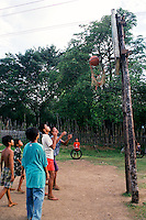 Basketball game. Malibcong, Abra. August, 1999