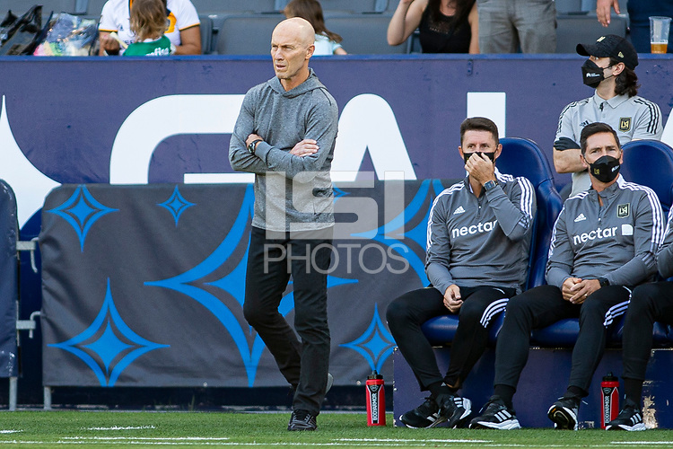 CARSON, CA - MAY 8: Bob Bradley head coach of the LAFC paces the sideline during a game between Los Angeles FC and Los Angeles Galaxy at Dignity Health Sports Park on May 8, 2021 in Carson, California.