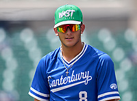 Canterbury Cougars pitcher Anthony Ursitti (8) before the 42nd Annual FACA All-Star Baseball Classic on June 5, 2021 at Joker Marchant Stadium in Lakeland, Florida.  (Mike Janes/Four Seam Images)