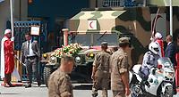 26 juillet 2019, Tunisie, Tunis: le convoi transportant le corps du défunt président tunisien Beji Caid Essebsi quitte l'armée<br /> <br /> <br /> PHOTO :  Wassim Jdidi/AQP