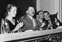 *20.04.1889-30.04.1945+<br /> Politiker, NSDAP, D<br /> - bei einem Konzert der Berliner<br /> Philharmoniker unter Wilhelm Furtwängler<br /> zugunsten des Winterhilfswerkes (WHW);<br /> in der Ehrenloge von links: Emmy Göring,<br /> Joseph Goebbels, Hermann Göring<br /> <br /> - 10.02.1937<br /> <br /> Es obliegt dem Nutzer zu prüfen, ob Rechte Dritter an den Bildinhalten der beabsichtigten Nutzung des Bildmaterials entgegen stehen.