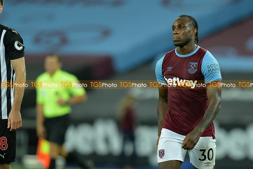 Dejected Michail Antonio of West Ham United during West Ham United vs Newcastle United, Premier League Football at The London Stadium on 12th September 2020