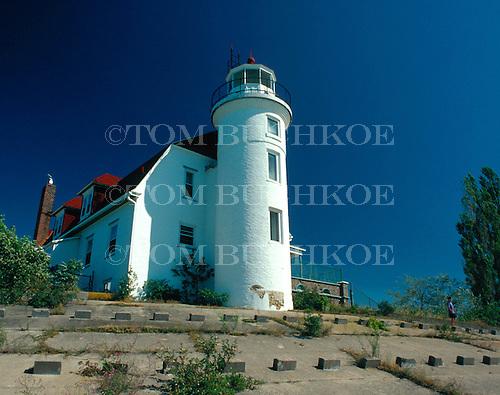 Point Betsie Lighthouse, Lake Michigan,  in Benzie county, Michigan.