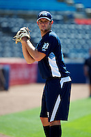 West Michigan Whitecaps Tommy Collier #29 during practice before a game against the Bowling Green Hot Rods at Fifth Third Ballpark on June 26, 2012 in Comstock Park, Michigan.  West Michigan defeated Bowling Green 13-11.  (Mike Janes/Four Seam Images)
