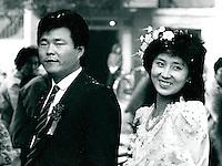 Brautpaar in Peking, China 1989