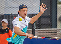 Amstelveen, Netherlands, 1 August 2020, NTC, National Tennis Center, National Tennis Championships, Men's Doubles final:  Tallon Griekspoor (NED) <br /> Photo: Henk Koster/tennisimages.com