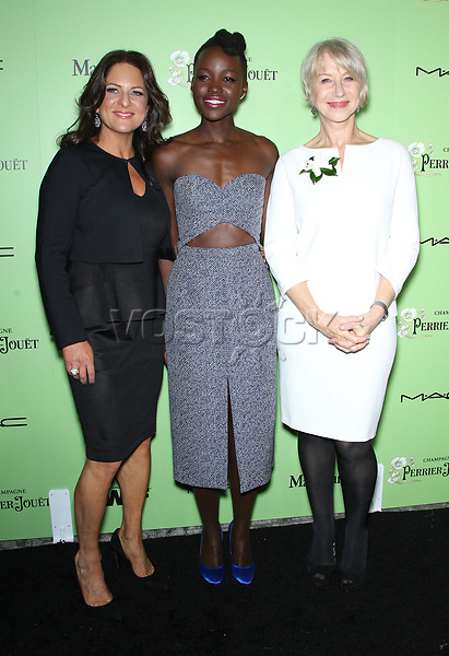 Women In Film Pre-Oscar Cocktail Party Presented By Perrier-Jouet, MAC Cosmetics & MaxMara At Fig & Olive Melrose Place<br /> <br /> Featuring: WOMEN IN FILM President Cathy Schulman,Lupita Nyong'o,Helen Mirren<br /> Where: West Hollywood, California, United States<br /> When: 01 Mar 2014<br /> Credit: FayesVision/WENN.com