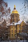 Jan. 24, 2013; Main Building on a winter morning..Photo by Matt Cashore/University of Notre Dame