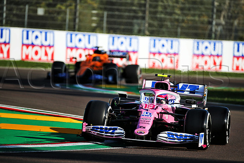 31st October 2020, Imola, Italy; FIA Formula 1 Grand Prix Emilia Romagna, Free Practise sessions;  18 Lance Stroll CAN, BWT Racing Point F1 Team