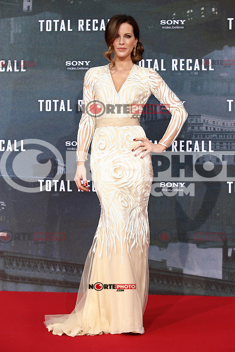 """Actress Kate Beckinsale wore a Naeem Khan dress, Christian Louboutin shoes and Neil Lane jewels while attending the germany premiere of the movie """"TOTAL RECALL"""" at CineStar Sony Center in Berlin, Germany, 13.08.2012...Credit: Tomasz Poslada/face to face /MediaPunch Inc. ***FOR USA ONLY*** ***Online Only for USA Weekly Print Magazines*** /NortePhoto.com*<br /> <br /> **CREDITO*OBLIGATORIO** <br /> *No*Venta*A*Terceros*<br /> *No*Sale*So*third*<br /> *** No Se Permite Hacer Archivo**"""