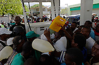 Port au Prince, Haiti, April 14, 2010.The country suffers from chronic gazoline shortage. The city center, where most of Haiti's econmy is traded, is still mostly in ruins, 3 months after the earthquake.
