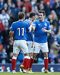 Andy Little celebrates his goal with David Templeton