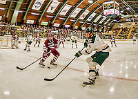 15 November 2015: University of Vermont Catamount Forward Liam Coughlin, a Freshman from South Boston, MA, in second period action against the University of Massachusetts Minutemen at Gutterson Fieldhouse in Burlington, Vermont. The Minutemen rallied from a three goal deficit to tie the game 3-3 in their Hockey East matchup. Mandatory Credit: Ed Wolfstein Photo *** RAW (NEF) Image File Available ***