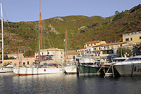 - Capraia island (Tuscan Archipelago) the tourist harbor ....- isola di Capraia (Arcipelago Toscano), il porto turistico