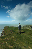 A walker walking to Borness Point, Galloway<br /> <br /> Copyright www.scottishhorizons.co.uk/Keith Fergus 2011 All Rights Reserved