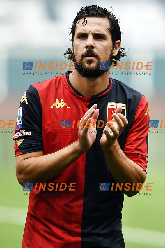 Mattia Destro <br /> Serie A football match between Genoa CFC and FC Crotone at Marassi Stadium in Genova (Italy), September 20th, 2020. Photo Image Sport / Insidefoto