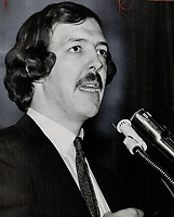 Montreal lawyer. Robert Lemieux has been suspended from the Quebec bar association for six months. It is believed the suspension stems from Lemieux's criticism of a Superior Court judge who jailed him for contempt.<br /> <br /> 1971<br /> <br /> PHOTO :  Dick Darrell - Toronto Star Archives - AQP