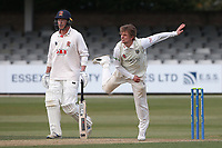 Scott Borthwick in bowling action for Durham during Essex CCC vs Durham CCC, LV Insurance County Championship Group 1 Cricket at The Cloudfm County Ground on 16th April 2021