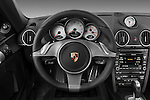 Steering wheel view of a 2009 Porsche Cayman S
