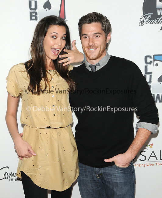 Dave Annable and girlfriend Odette Yustman at The World Poker Tour Celebrity Invitational Tournament held at The Commerce Casino in The City of Commerce, California on February 20,2010                                                                   Copyright 2010  DVS / RockinExposures