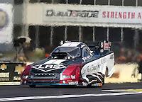 May 17, 2015; Commerce, GA, USA; NHRA funny car driver Tim Wilkerson during the Southern Nationals at Atlanta Dragway. Mandatory Credit: Mark J. Rebilas-USA TODAY Sports