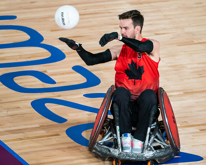 Cody Caldwell, Lima 2019 - Wheelchair Rugby // Rugby en fauteuil roulant.<br /> Canada takes on Argentina in wheelchair rugby // Le Canada affronte l'Argentine au rugby en fauteuil roulant. 23/08/2019.