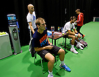 11-02-14, Netherlands,Rotterdam,Ahoy, ABNAMROWTT,Thiemo de Bakker(NED) and Juan-Martin Del Potro(ARG)<br /> Photo:Tennisimages/Henk Koster