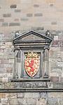 Europe, Great Britain, Scotland, Edinburgh, Edinburgh Castle, Royal Coat of Arms