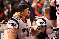 Tackle Matt Light (Patriots)<br /> New York Giants vs. New England Patriots<br /> *** Local Caption *** Foto ist honorarpflichtig! zzgl. gesetzl. MwSt. Auf Anfrage in hoeherer Qualitaet/Aufloesung. Belegexemplar an: Marc Schueler, Am Ziegelfalltor 4, 64625 Bensheim, Tel. +49 (0) 6251 86 96 134, www.gameday-mediaservices.de. Email: marc.schueler@gameday-mediaservices.de, Bankverbindung: Volksbank Bergstrasse, Kto.: 151297, BLZ: 50960101