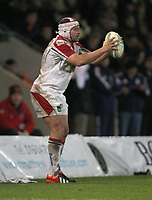 Friday 7th December 2012;  Rory Best in action for Ulster during the Pool 4 round 3 Heineken Cup clash at Franklin's Gardens, Northampton, England. Image credit -: JOHN DICKSON / DICKSONDIGITAL