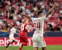 14th September 2021; Sevilla, Spain: UEFA Champions League football,  Sevilla FC versus RB Salzburg;  Gómez of Sevilla appeals for the foul