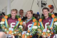 KAATSEN: FRANEKER: 03-08-2011, Gert Anne van der Bos, Daniël Iseger, Taeke Triemstra,  PC Franeker, ©foto Martin de Jong