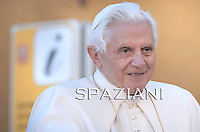 Pope Benedict XVI  during his weekly general audience on October 27, 2010 at St Peter's square at The vatican.