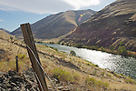 An old fenceline along the lower Deschutes River below Macks Canyon.