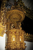 Cusco, Peru. Ornate baroque gilt pulpit in San Blas church.