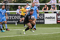Andy Ackers of London Broncos scores his first try of the game to make the score 46-16 during the Kingstone Press Championship match between London Broncos and Sheffield Eagles at Castle Bar , West Ealing , England  on 9 July 2017. Photo by David Horn.