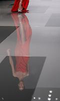 Una modella presenta una creazione della collezione Autunno/Inverno 2013/2014 dello stilista libanese Tony Ward durante la rassegna Altaroma a Roma, 9 luglio 2013.<br /> A model wears a creation of Lebanese fashion designer Tony Ward's collection fall/winter 2013 during the Altaroma fashion week in Rome, 9 July 2013.<br /> UPDATE IMAGES PRESS/Isabella Bonotto