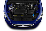 Car Stock 2020 Seat Leon Xcellence 5 Door Wagon Engine  high angle detail view