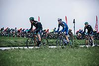 Bert De Backer (BEL/B&B Hotels - Vital Concept) and Ian Garrison (USA/Deceuninck Quick Step) leading the peloton<br /> <br /> GP Monseré 2020<br /> One Day Race: Hooglede – Roeselare 196.8km. (UCI 1.1)<br /> Bingoal Cycling Cup 2020