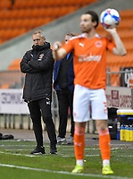 Blackpool's Manager Neil Critchley keeps a watching brief<br /> <br /> Photographer Dave Howarth/CameraSport<br /> <br /> The EFL Sky Bet League One - Blackpool v Wigan Athletic - Tuesday 3rd November 2020 - Bloomfield Road - Blackpool<br /> <br /> World Copyright © 2020 CameraSport. All rights reserved. 43 Linden Ave. Countesthorpe. Leicester. England. LE8 5PG - Tel: +44 (0) 116 277 4147 - admin@camerasport.com - www.camerasport.com