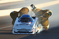 Nov 1, 2019; Las Vegas, NV, USA; NHRA funny car driver John Force during qualifying for the Dodge Nationals at The Strip at Las Vegas Motor Speedway. Mandatory Credit: Mark J. Rebilas-USA TODAY Sports