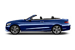 Car Driver side profile view of a 2017 Mercedes Benz C-Class - 2 Door Convertible Side View