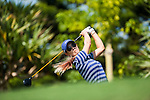 TAOYUAN, TAIWAN - OCTOBER 26:  Michelle Wie of USA tees off on the 8th hole during the day two of the Sunrise LPGA Taiwan Championship at the Sunrise Golf Course on October 26, 2012 in Taoyuan, Taiwan. Photo by Victor Fraile / The Power of Sport Images