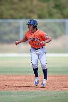 Houston Astros Andres Santana (31) during a Minor League Spring Training game against the St. Louis Cardinals on March 27, 2018 at the Roger Dean Stadium Complex in Jupiter, Florida.  (Mike Janes/Four Seam Images)