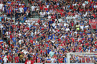 CLEVELAND, OHIO - JUNE 22: United States fans during a 2019 CONCACAF Gold Cup group D match between the United States and Trinidad & Tobago at FirstEnergy Stadium on June 22, 2019 in Cleveland, Ohio.