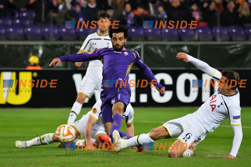Gol Mohamed Salah Fiorentina Goal celebration 2-0 <br /> Firenze 26-02-2015 Stadio Artemio Franchi Football Calcio Europa League Fiorentina - Tottenham. Foto Andrea Staccioli / Insidefoto