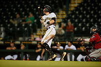 Bradenton Marauders Michael Gretler (10) bats during a Florida State League game against the Fort Myers Miracle on April 23, 2019 at LECOM Park in Bradenton, Florida.  Fort Myers defeated Bradenton 2-1.  (Mike Janes/Four Seam Images)