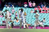 9th January 2021; Sydney Cricket Ground, Sydney, New South Wales, Australia; International Test Cricket, Third Test Day Three, Australia versus India; Marnus Labuschagne of Australia celebrates as Cheteshwar Pujaraof India is dismissed